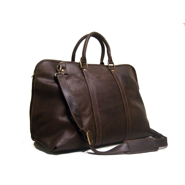 25 Distressed Leather Getaway Travel Duffel by Le Donne Leather