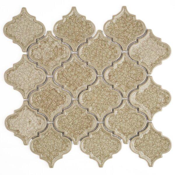 Roman Selection Glass Mosaic Tile in Raw Ginger by Splashback Tile