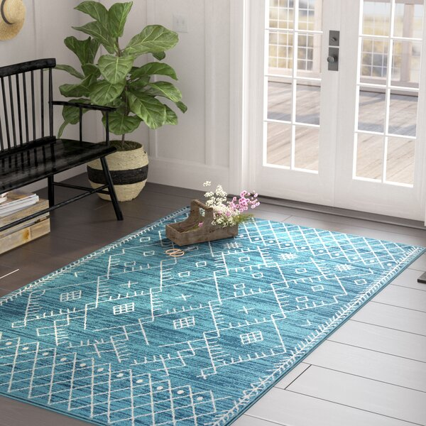 Templeton Ocean Blue Area Rug by Laurel Foundry Modern Farmhouse
