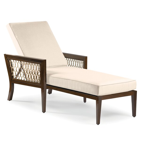 Echo Bay Reclining Chaise Lounge with Cushion by Eddie Bauer
