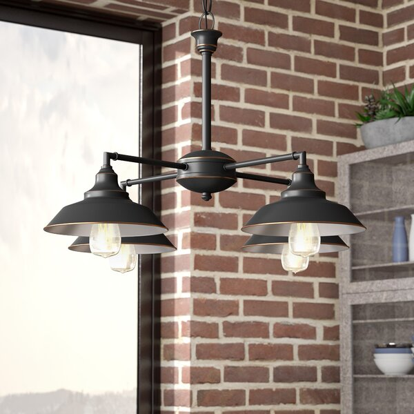 Alayna 4-Light Shaded Chandelier by Trent Austin Design