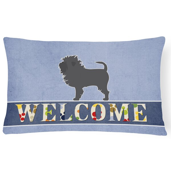Eagarville Affenpinscher Welcome Lumbar Pillow by Red Barrel Studio