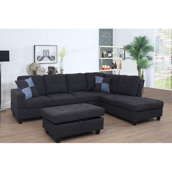 Borquez Sectional with Ottoman by Red Barrel Studio