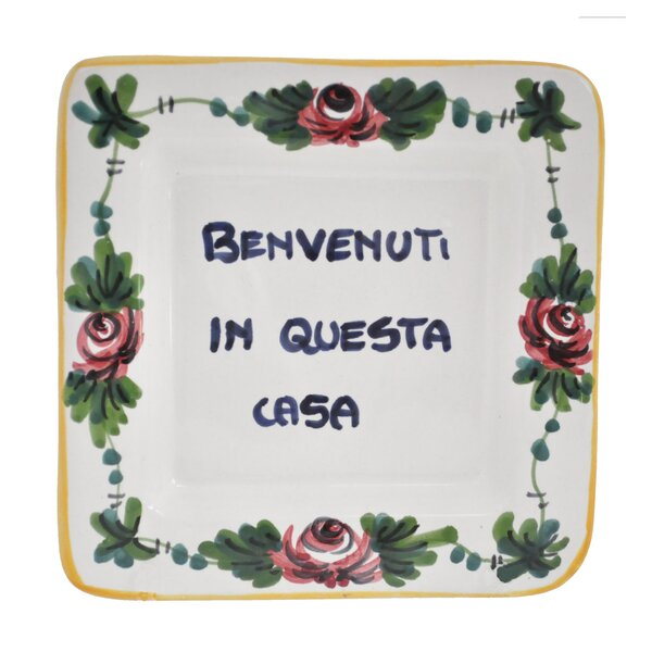 Leidi Proverb Square Benvenuti a Questa Casa 5 Bread and Butter Plate by Winston Porter
