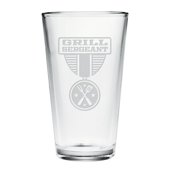 Grill Sergeant Pint Glass (Set of 4) by Susquehanna Glass
