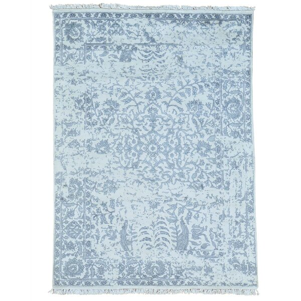 One-Of-A-Kind Orian Hand-Knotted Blue Area Rug By One Allium Way.