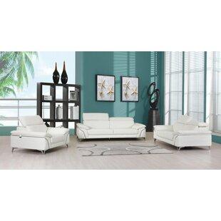 Avallone 3 Piece Standard Living Room Set by Orren Ellis