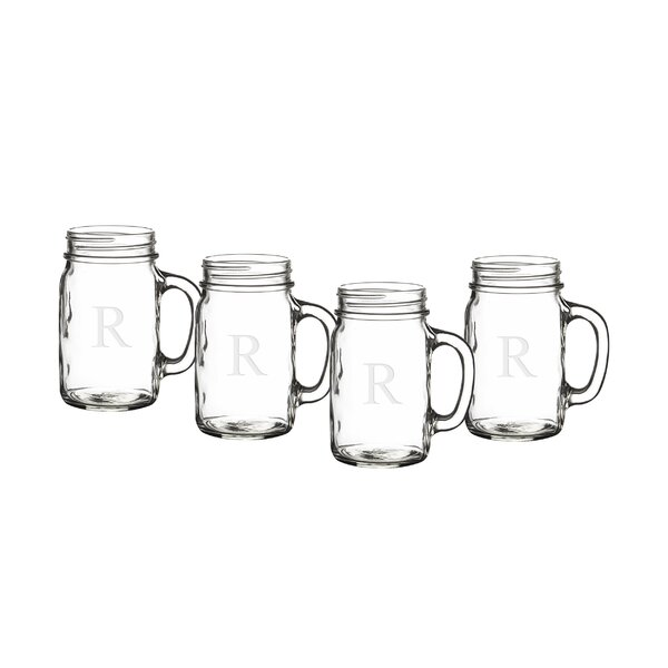 Personalized Mason Jar 16.5 oz. (Set of 4) by Cathys Concepts