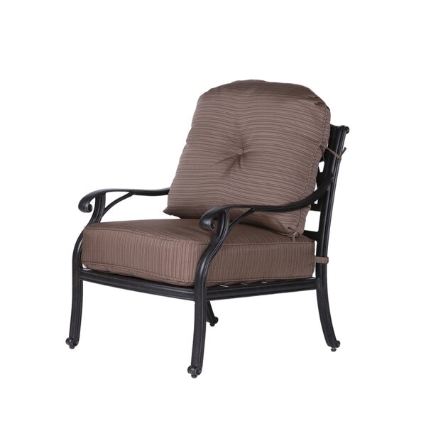 Germano High Back Club Patio Chair with Cushion by Darby Home Co Darby Home Co