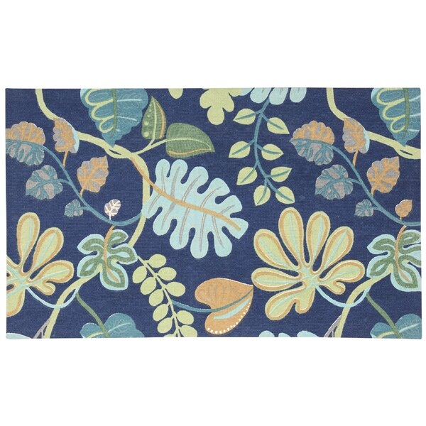 Art House A New Leaf Hand Woven Blue/Green Area Rug by Waverly