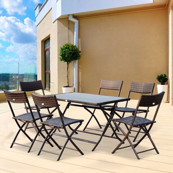 Aticus 7 Piece Dining Set by Ebern Designs