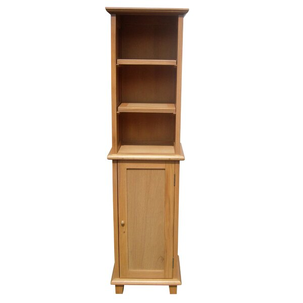 Harahan 16'' W x 62.25'' H x 12'' D Solid Wood Free-Standing Linen Cabinet