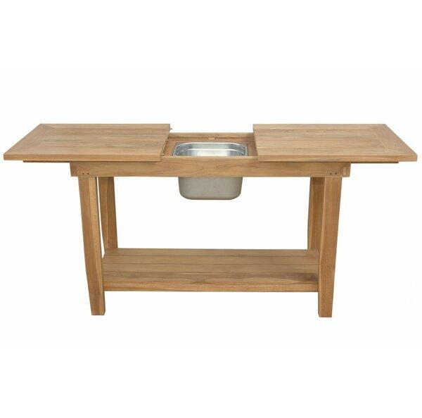Nautilus Extendable Teak Console Table by Anderson Teak