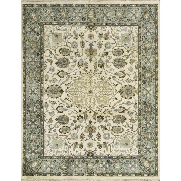 One-of-a-Kind Handwoven Wool Gray/Ivory Indoor Area Rug by Bokara Rug Co., Inc.