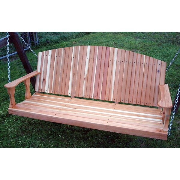 Medfield Cedar Back Porch Swing by Rosecliff Heights