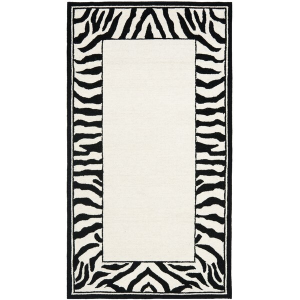 Bridges White/Black Area Rug by World Menagerie