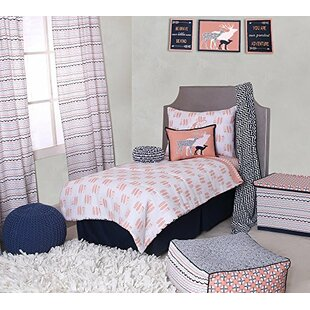 olivia tribal buck feathers triangles muslin 4 piece toddler bedding set - Toddler Bedding Sets