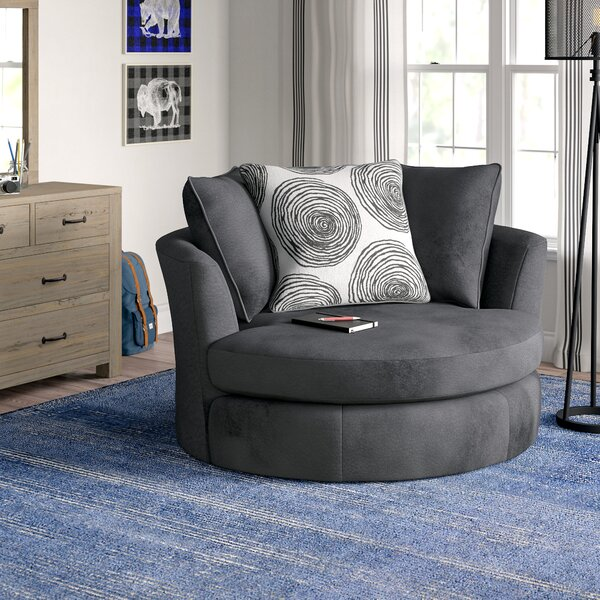 Acosta Swivel Barrel Chair by Grovelane Teen
