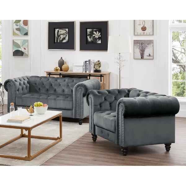 Mohr Velvet 2 Piece Living Room Set by Rosdorf Park