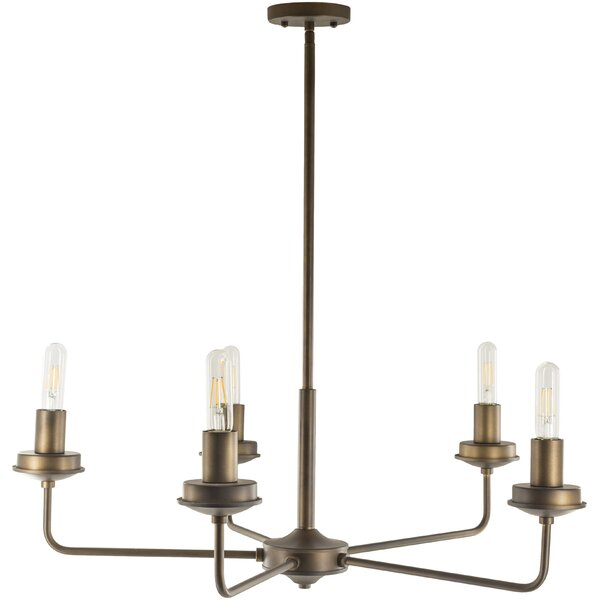 Ahmod 5 - Light Candle Style Sphere Chandelier by Latitude Run Latitude Run