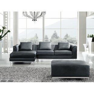 Catlett Leather Corner Sectional