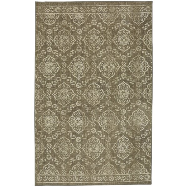 Asherman Beige/Cream Area Rug by Bungalow Rose