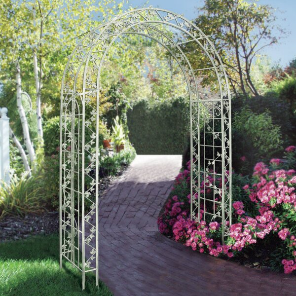Crescent Steel Arbor by Griffith Creek Designs