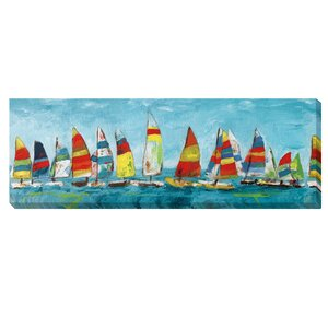 'Sailing Away' by Katrina Craven Painting Print on Wrapped Canvas by Artistic Home Gallery