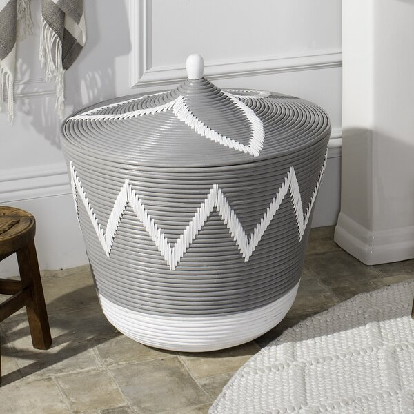 Rattan Laundry Hamper by Union Rustic