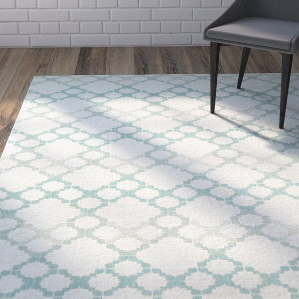 Morgan Blue/Gray Outdoor Area Rug by Ivy Bronx