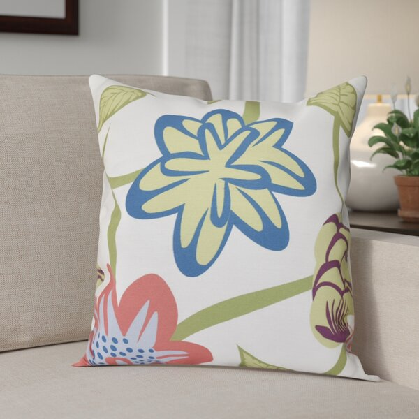 Engine House Tropical Floral Outdoor Throw Pillow by Red Barrel Studio