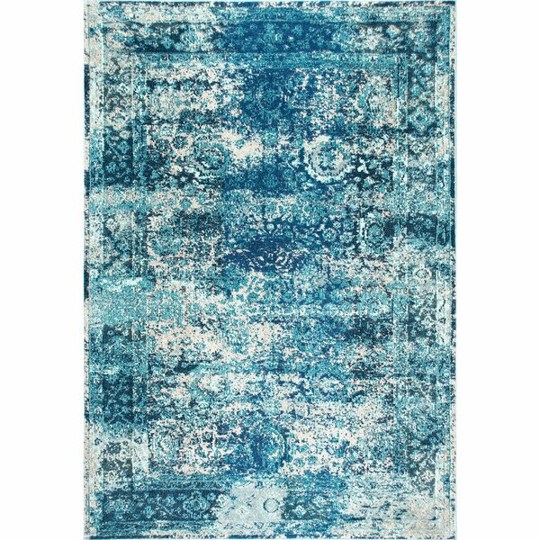 Renshaw Vintage Shuler Ocean Blue Area Rug by Bungalow Rose