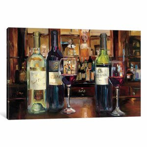 A Reflection of Wine Painting Print on Wrapped Canvas by Alcott Hill