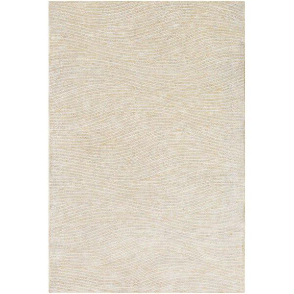 Alverez Hand-Woven Khaki/Gray Area Rug by Langley Street