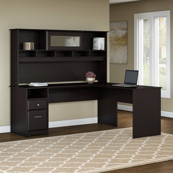 Hillsdale L-Shaped Executive Desk with Hutch by Red Barrel Studio