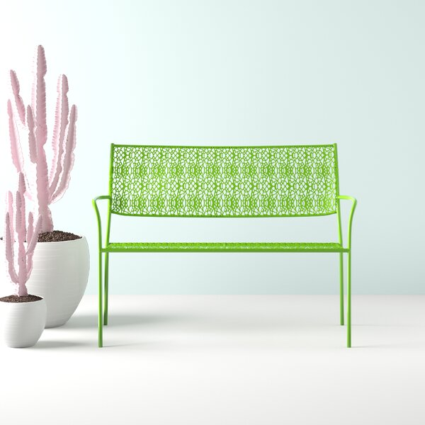 Walker Steel Garden Bench by Hashtag Home Hashtag Home
