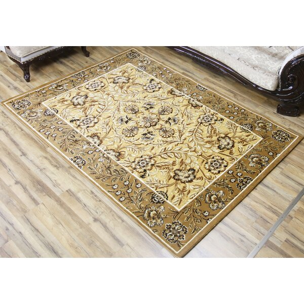 Shonil Beige/Ivory Area Rug by Beyan Signature