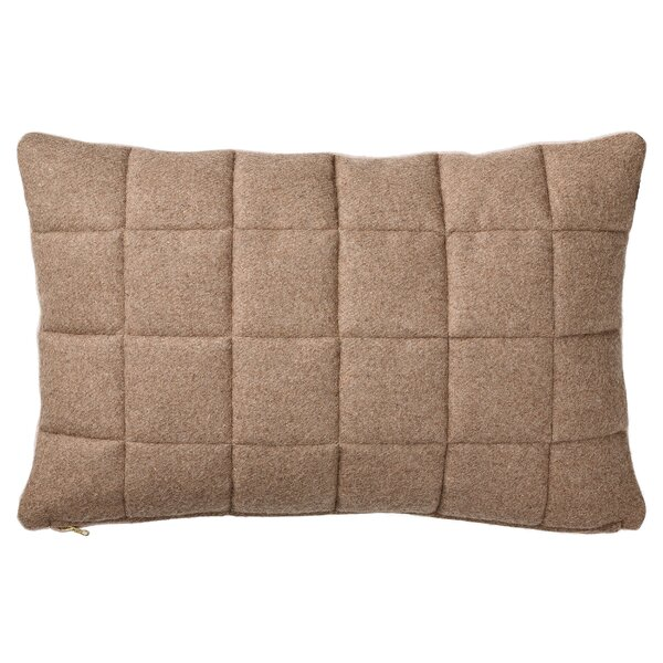 Betterton Quilted Recycled Wool Throw Pillow by Langley Street