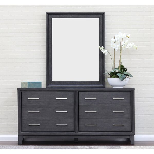 Verbana 6 Drawer Double Dresser with Mirror by Latitude Run