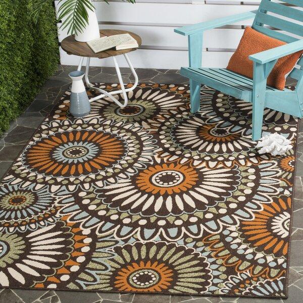 Jonah Beige/Green/Orange Indoor/Outdoor Area Rug by Andover Mills