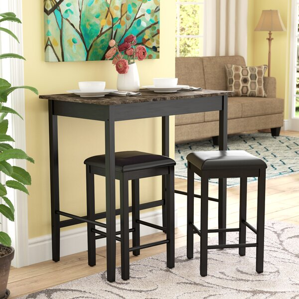 Forge 3 Piece Dining Set by Andover Mills