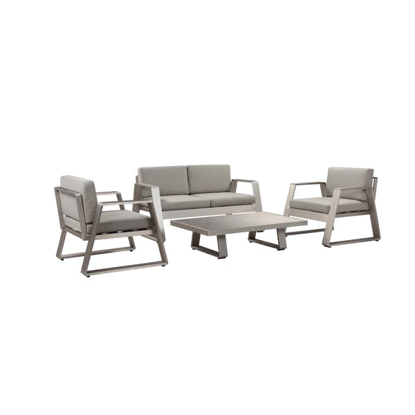 Joulane 4 Piece Sofa Seating Group with Cushion (Set of 4) by Wrought Studio Wrought Studio