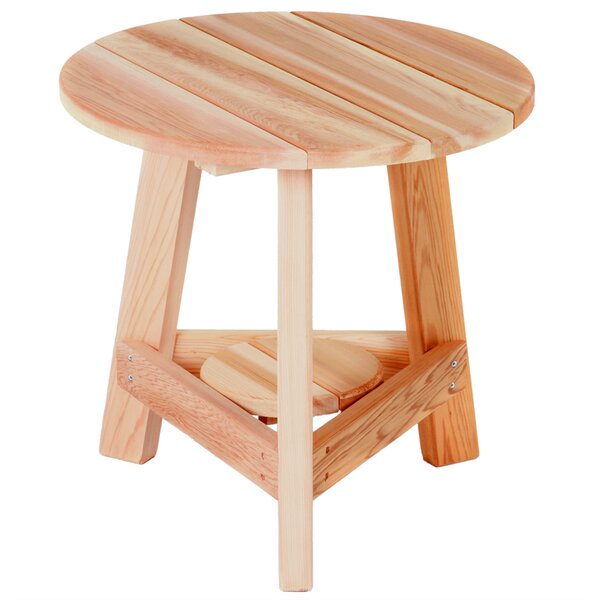 Western Red Cedar Solid Wood Side Table by All Things Cedar