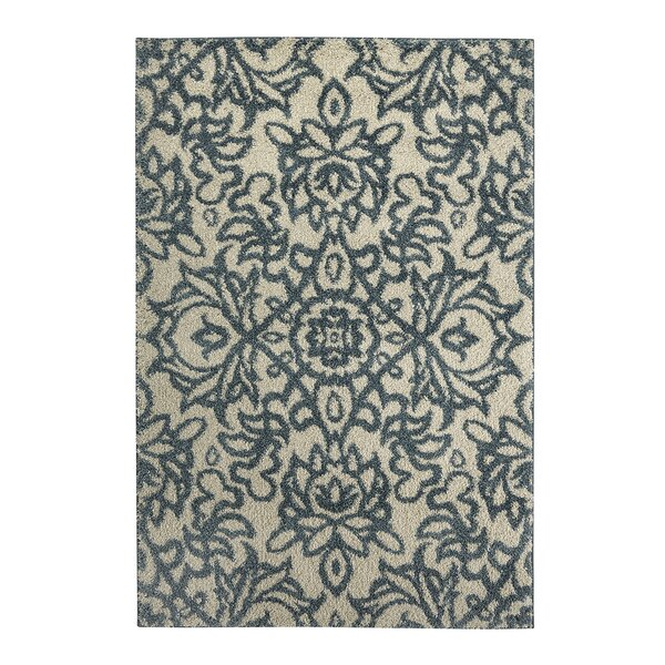 Augusta Spokane Beige and Blue Area Rug by Mohawk Home