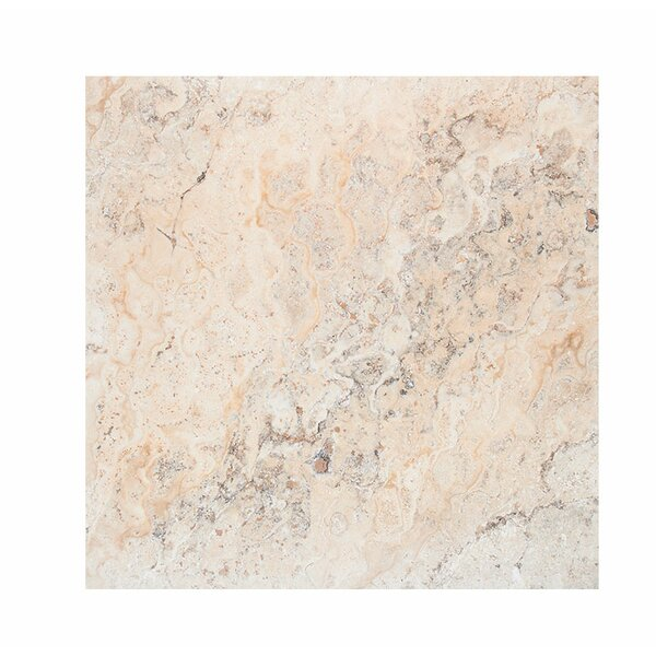 Scabos 18 x 18 Travertine Field Tile in Beige by Parvatile