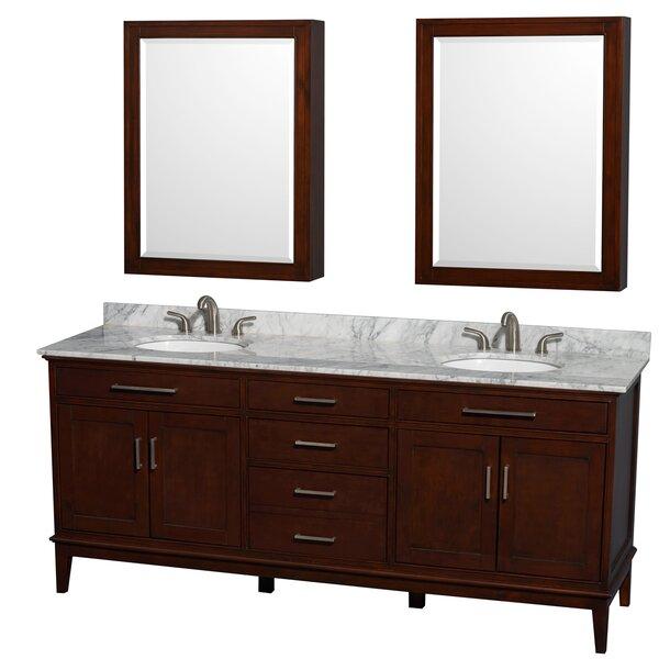 Hatton 80 Double Bathroom Vanity Set with Mirror