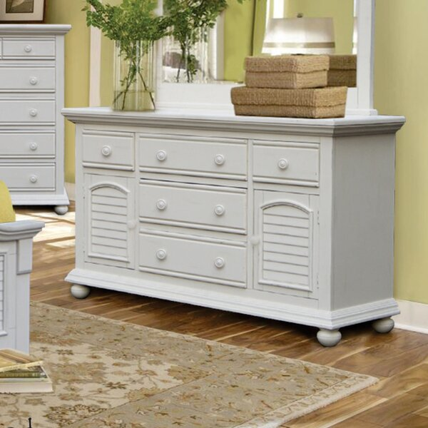 Laguna 5 Drawer Combo Dresser by Rosecliff Heights