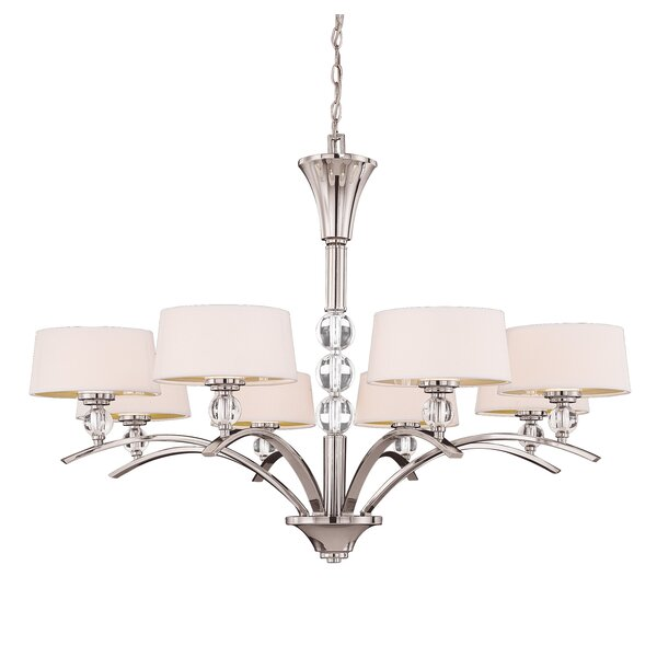 Lewis 8-Light Shaded Chandelier by Willa Arlo Interiors