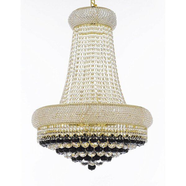 Vaughn 15-Light Unique / Statement Empire Chandelier By Rosdorf Park