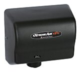 Adjustable High Speed 100 - 240 Volt Hand Dryer in Black by American Dryer
